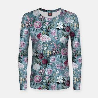 Botanical Garden Blue Woman cotton sweater thumbnail image