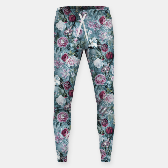 Botanical Garden Blue Cotton sweatpants thumbnail image