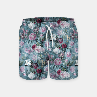 Thumbnail image of Botanical Garden Blue Swim Shorts, Live Heroes