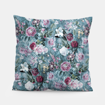 Thumbnail image of Botanical Garden Blue Pillow, Live Heroes