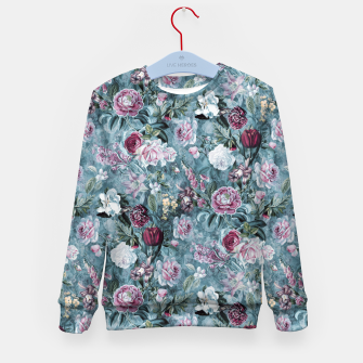Thumbnail image of Botanical Garden Blue Kid's sweater, Live Heroes