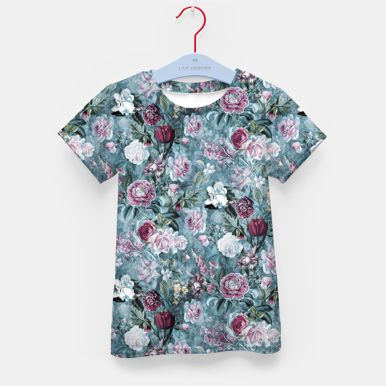Image of Botanical Garden Blue Kid's t-shirt - Live Heroes