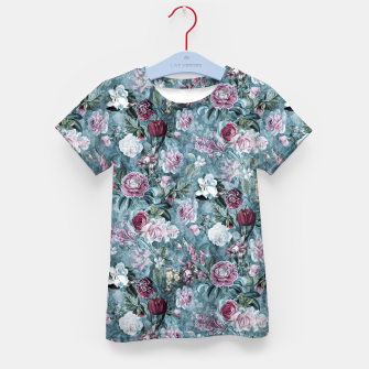 Thumbnail image of Botanical Garden Blue Kid's t-shirt, Live Heroes