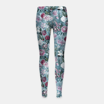 Thumbnail image of Botanical Garden Blue Girl's leggings, Live Heroes