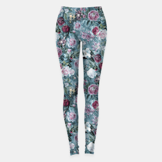 Thumbnail image of Botanical Garden Blue Leggings, Live Heroes