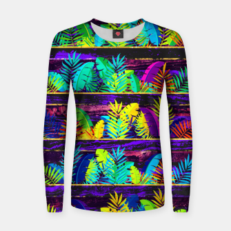 Miniatur Tropical XIII Woman cotton sweater, Live Heroes
