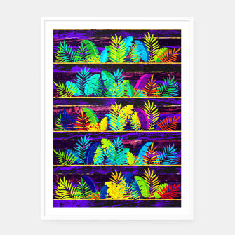 Miniatur Tropical XIII Framed poster, Live Heroes
