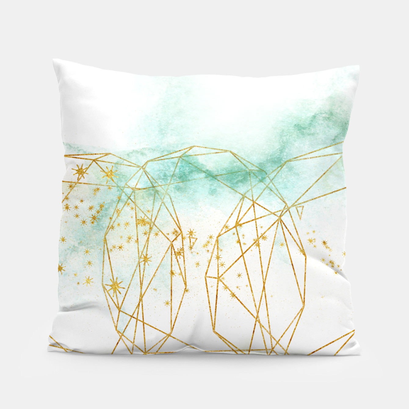 Image of Geometric Pillow - Live Heroes