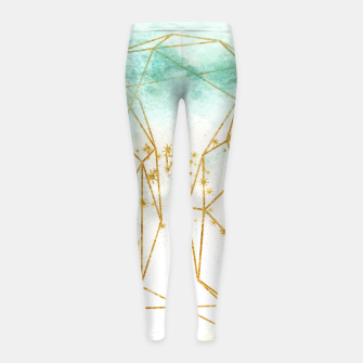 Thumbnail image of Geometric Girl's leggings, Live Heroes