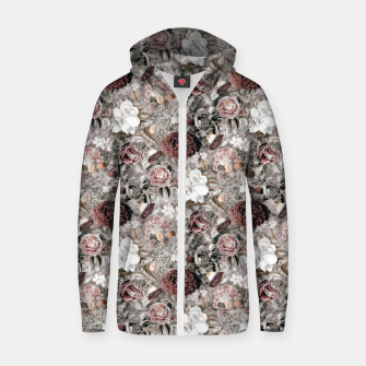 Thumbnail image of Botanical Garden II Cotton zip up hoodie, Live Heroes