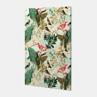 Thumbnail image of Hummingbirds in flowering florida 01 Canvas, Live Heroes