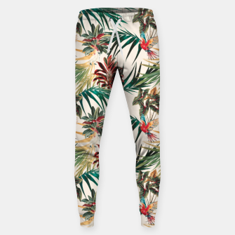 Thumbnail image of Plants and tropical birds Pantalones de chándal de algodón, Live Heroes