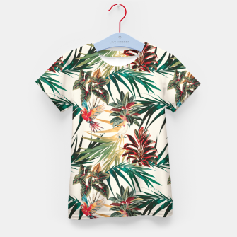 Thumbnail image of Plants and tropical birds Camiseta para niños, Live Heroes