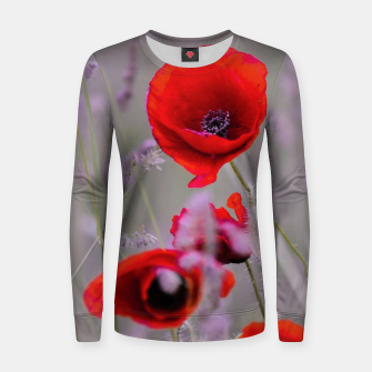 Miniature de image de poppies in the fog Bluza bawełniana damska, Live Heroes