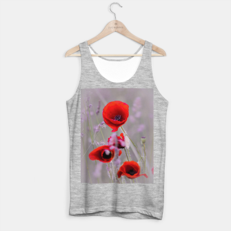 Miniature de image de poppies in the fog Tank Top standard, Live Heroes
