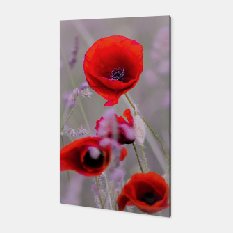 Miniature de image de poppies in the fog Canvas, Live Heroes