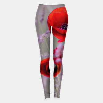 Miniature de image de poppies in the fog Legginsy, Live Heroes