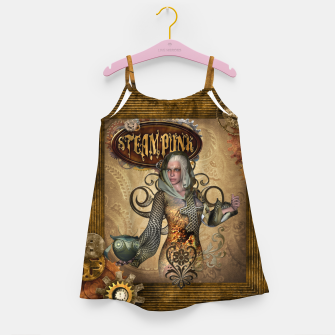 Thumbnail image of Aweseome steampunk women with owl Girl's dress, Live Heroes