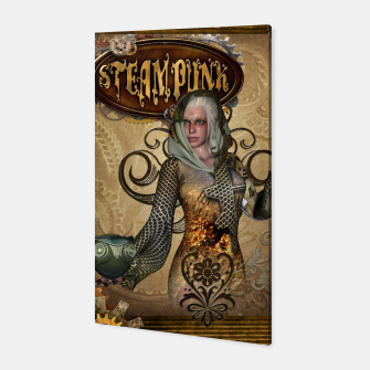 Thumbnail image of Aweseome steampunk women with owl Canvas, Live Heroes