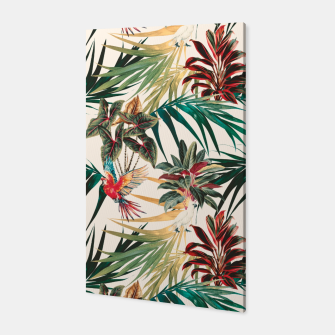 Miniatur Plants and tropical birds Canvas, Live Heroes
