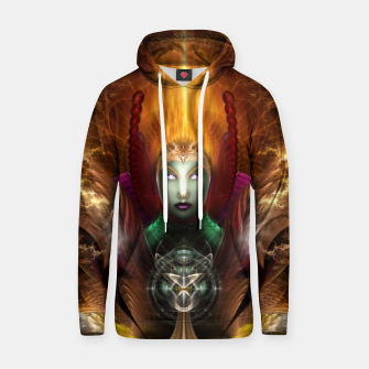 Thumbnail image of Riddian Queen Of Cosmic Fire Cotton hoodie, Live Heroes