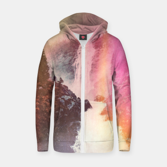 Thumbnail image of Waterfall of Inspiration Cotton zip up hoodie, Live Heroes