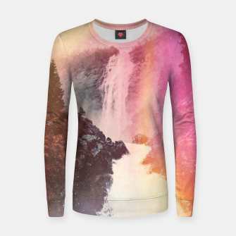 Thumbnail image of Waterfall of Inspiration Woman cotton sweater, Live Heroes