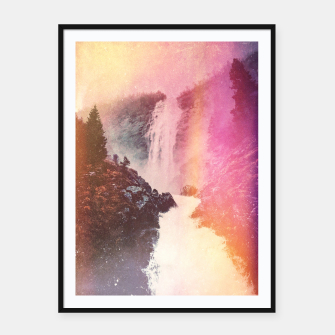 Thumbnail image of Waterfall of Inspiration Framed poster, Live Heroes