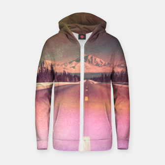 Wait and See Cotton zip up hoodie thumbnail image