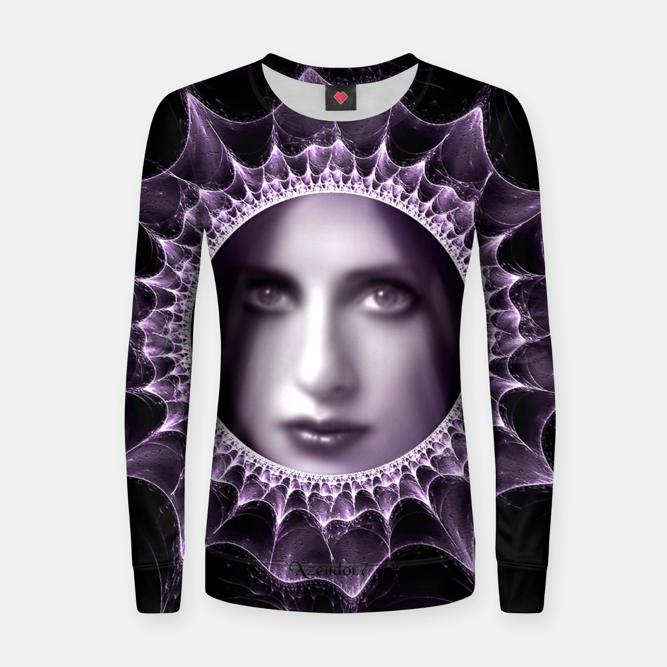 Image of Girl Behind The Magic Mirror Woman cotton sweater - Live Heroes