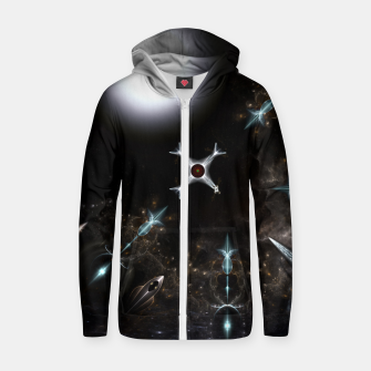 Thumbnail image of The Gateway Sci-Fi Fractal Art Cotton zip up hoodie, Live Heroes