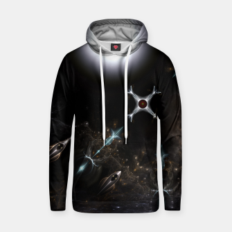 Thumbnail image of The Gateway Sci-Fi Fractal Art Cotton hoodie, Live Heroes