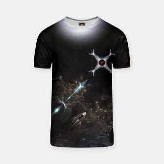 Thumbnail image of The Gateway Sci-Fi Fractal Art T-shirt, Live Heroes