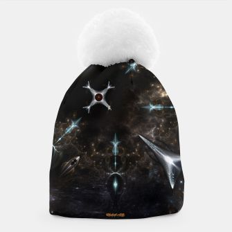 Thumbnail image of The Gateway Sci-Fi Fractal Art Beanie, Live Heroes