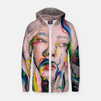 Thumbnail image of Blow my mind Cotton zip up hoodie, Live Heroes