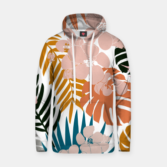 Thumbnail image of Palms and Bloom Cotton hoodie, Live Heroes