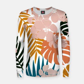 Thumbnail image of Palms and Bloom Woman cotton sweater, Live Heroes