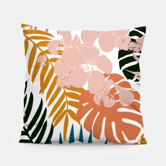 Thumbnail image of Palms and Bloom Pillow, Live Heroes