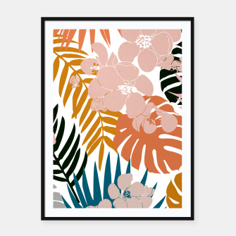 Thumbnail image of Palms and Bloom Framed poster, Live Heroes