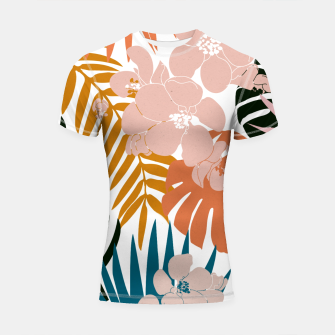 Thumbnail image of Palms and Bloom Shortsleeve rashguard, Live Heroes