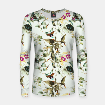 Thumbnail image of Butterflies on the meadow Sudadera de algodón para mujer, Live Heroes