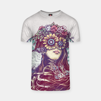 Thumbnail image of Birds Nest Hair T-shirt, Live Heroes
