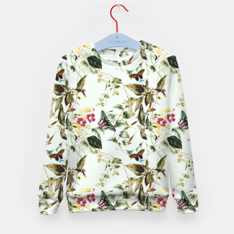 Miniatur Butterflies on the meadow Sudadera para niños, Live Heroes
