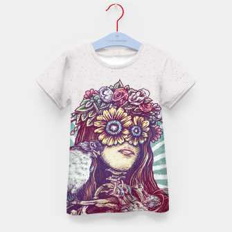 Thumbnail image of Birds Nest Hair Kid's t-shirt, Live Heroes
