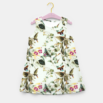 Miniatur Butterflies on the meadow Vestido de verano para niñas, Live Heroes