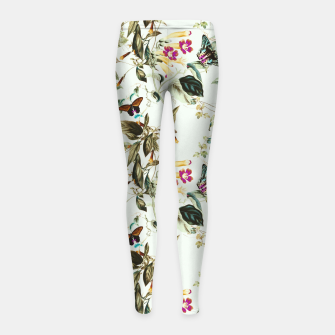 Butterflies on the meadow Leggings para niña thumbnail image