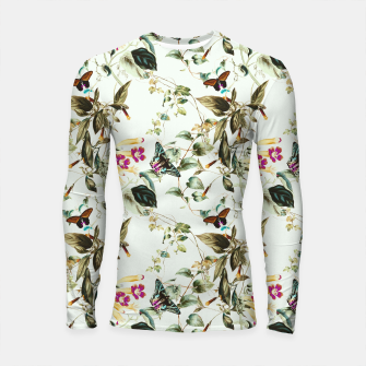 Miniatur Butterflies on the meadow Longsleeve rashguard, Live Heroes