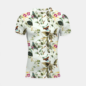 Miniatur Butterflies on the meadow Shortsleeve rashguard, Live Heroes