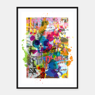 Thumbnail image of Street Art Attack Framed poster, Live Heroes