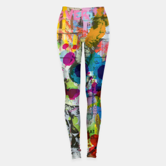 Thumbnail image of Street Art Attack Leggings, Live Heroes